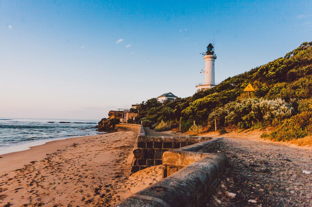 point lonsdale lighthouse, queenscliff point lonsdale holiday accommodation australia, beach house
