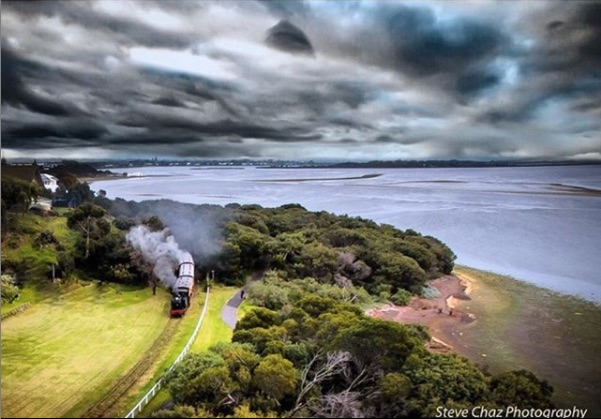 bellarine railway, steam engine, queenscliff point lonsdale accommodation