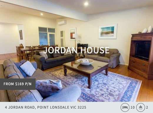 jordan house, queenscliff point lonsdale holiday accommodation australia, beach house